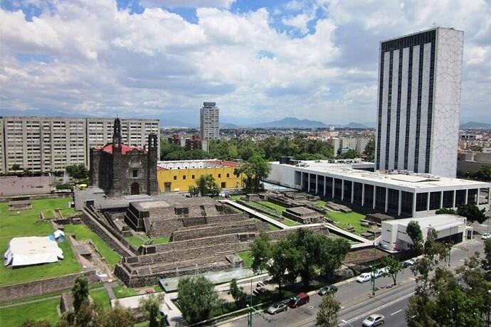 Panoramica de Tlatelolco