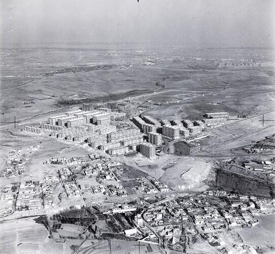 Barrio del Pilar, diciembre 1965, Mariano Bagües, BNE Bagues_1_2794_1