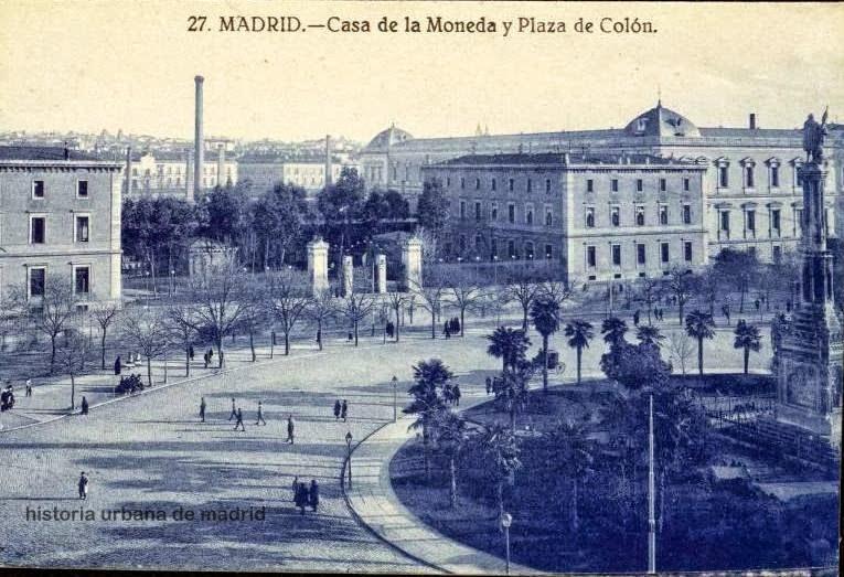 PLAZA DE COLON Y CASA DE LA MONEDA 1921
