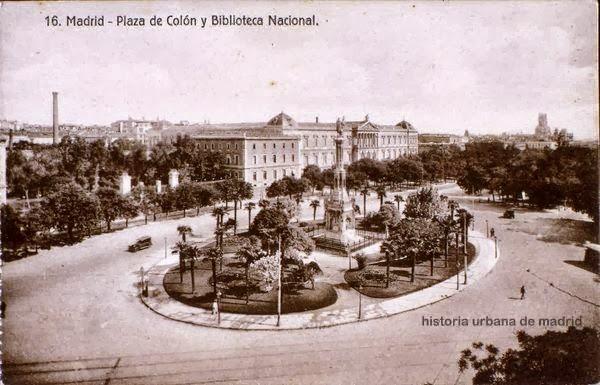 PLAZA DE COLON Y BIBLIOTECA NACIONAL 1930